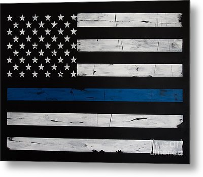 Thin Blue Line Metal Print by Dominoe Gregor