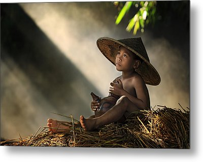 Think Metal Print by Andre Arment