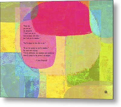 Metal Print featuring the painting Think How You Love Me by Lisa Weedn