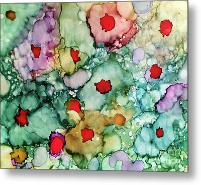 Metal Print featuring the painting Think Spring by Denise Tomasura
