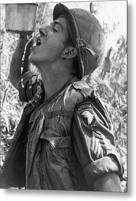 Thirsty Vietnam Soldier Metal Print
