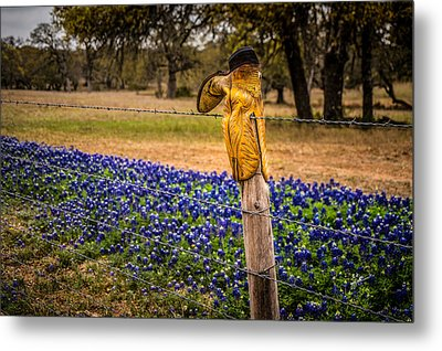 This Boot Was Made For... Metal Print by TK Goforth