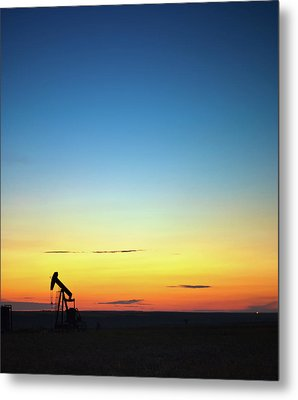 This Is Alberta No.14b - Prairie Oil Sunset Metal Print by Paul W Sharpe Aka Wizard of Wonders