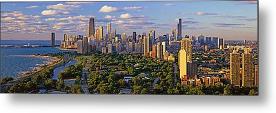 This Is Lincoln Park With Diversey Metal Print by Panoramic Images