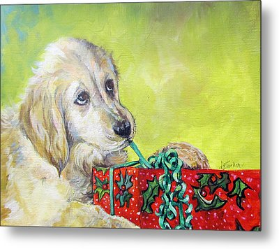 Metal Print featuring the painting This Is Mine? Right? by Donna Tucker