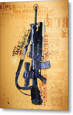 This Is My Rifle Riflemans Creed Metal Print by Jeff Steed