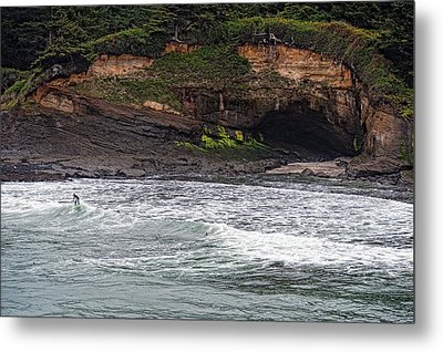 This Is Oregon State No.13 - Surfing At Boiler Bay Metal Print by Paul W Sharpe Aka Wizard of Wonders