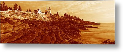 This Is The Pemaquid Point Lighthouse Metal Print by Panoramic Images