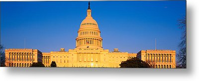 This Is The U.s. Capitol At Sunset. It Metal Print by Panoramic Images