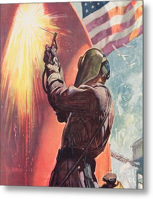 This Is Your Firing Line Dont Slow Up The Ship Metal Print by American School