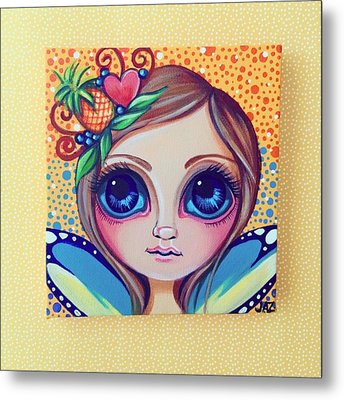 This Little Faery Cutie Today Flew Into Metal Print by Jaz Higgins