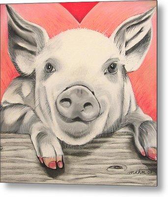 This Little Piggy... Metal Print by Michelle Hayden-Marsan