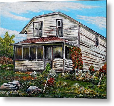 This Old House 2 Metal Print by Marilyn  McNish