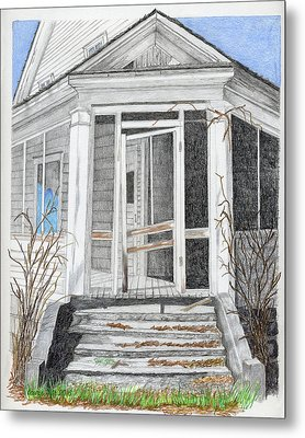 This Old House Metal Print by Laurie With