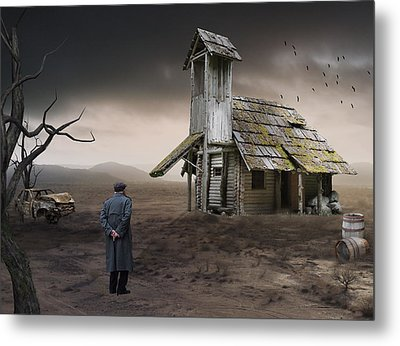 Metal Print featuring the mixed media This Old House by Marvin Blaine
