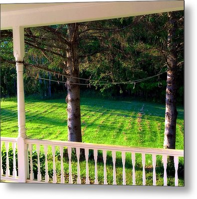 This Old Porch Metal Print