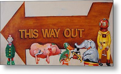 This Way Out Metal Print by Jean Cormier