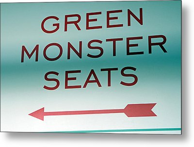 This Way To The Green Monster Seats Metal Print by Juergen Roth