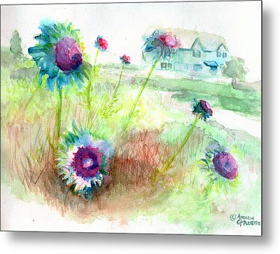 Thistles #1 Metal Print by Andrew Gillette