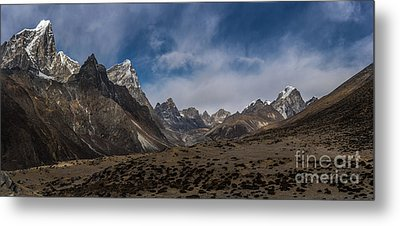 Metal Print featuring the photograph Thokla Pass Nepal by Mike Reid