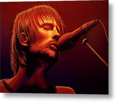 Thom Yorke Of Radiohead Metal Print by Paul Meijering