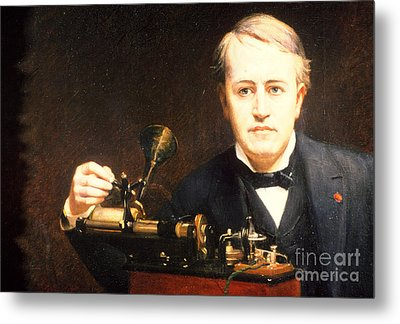 Thomas Edison, American Inventor Metal Print by Photo Researchers