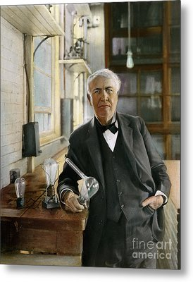 Thomas Edison Metal Print by Granger