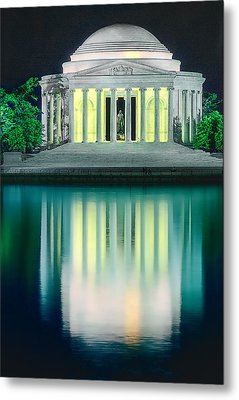 Thomas Jefferson Memorial At Night Metal Print