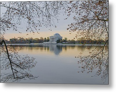 Thomas Jefferson Memorial In Spring Metal Print by Bill Cannon