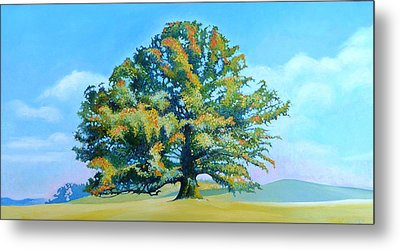 Thomas Jefferson's White Oak Tree On The Way To James Madison's For Afternoon Tea Metal Print