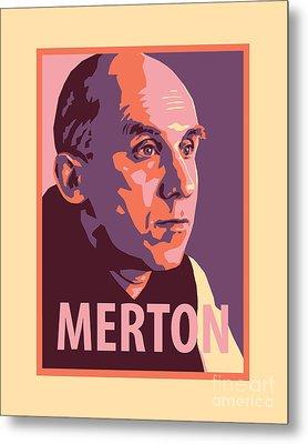 Thomas Merton - Jltme Metal Print by Julie Lonneman