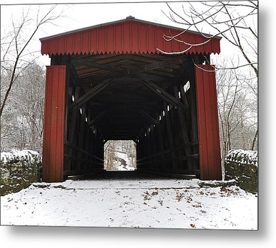 Thomas Mill Road Covered Bridge Metal Print
