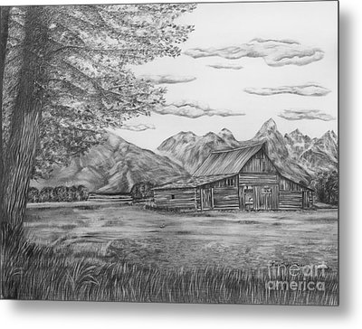Thomas Moulton Barn Metal Print by Lena Auxier