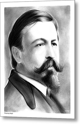 Thomas Nast Metal Print
