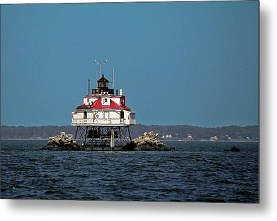 Thomas Point Shoal Light Metal Print