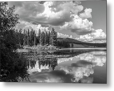 Thompson Lake In Black And White Metal Print