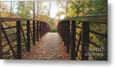 Thompson Park Bridge Stowe Vermont Metal Print