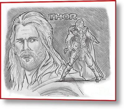 Thor Odinson Metal Print by Chris  DelVecchio