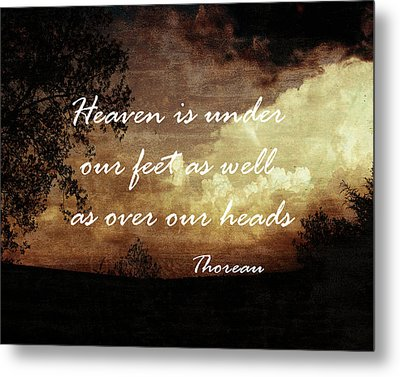 Thoreau Nature Quote Metal Print by Ann Powell