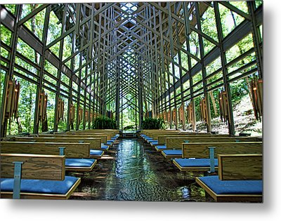 Metal Print featuring the photograph Thorncrown Chapel Interior by Cricket Hackmann