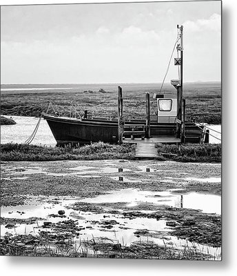 Thornham Harbour, North Norfolk Metal Print by John Edwards
