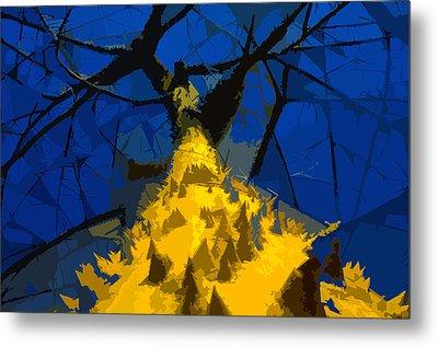 Thorny Tree Blue Sky Metal Print by David Lee Thompson