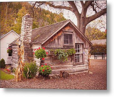 Metal Print featuring the photograph Thorp Cabin Door County Wisconsin by Heidi Hermes