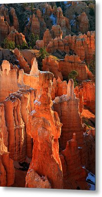 Thor's Hammer At Sunrise In Bryce Canyon Metal Print by Pierre Leclerc Photography