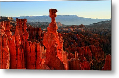 Thor's Hammer In Bryce Canyon At Sunrise Metal Print by Pierre Leclerc Photography