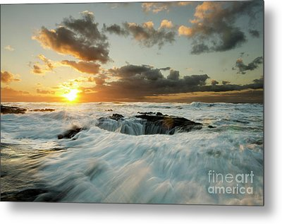 Metal Print featuring the photograph Thors Well Cape Perpetua 1 by Bob Christopher
