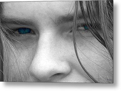 Those Blue Eyes Metal Print by Ruben  Flanagan