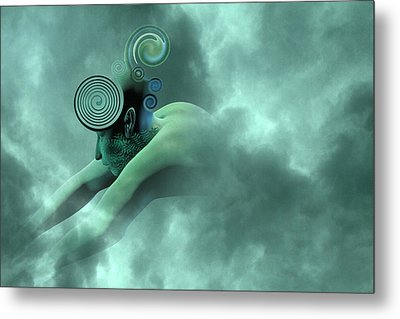 Thoughts Are Born Metal Print by Betsy Knapp