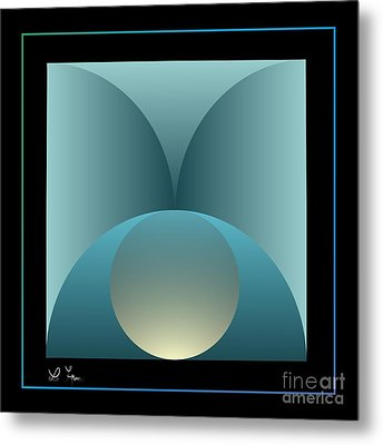 Thoughts Observation Metal Print