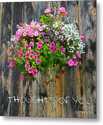 Thoughts Of You Greeting Card Metal Print